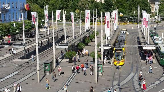 Am Basler Bahnhofsplatz ereignen sich die meisten Unfälle.