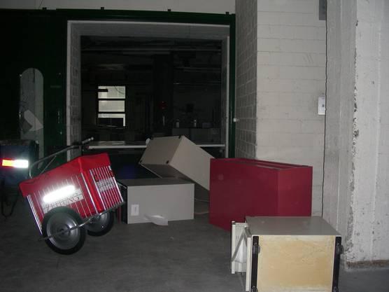 So sah es nach der illegalen Party in der ehemaligen Druckerei aus.