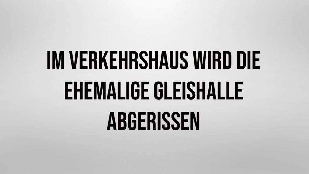 Ehemalige Halle  des Gotthardbahnmodells wird abgerissen