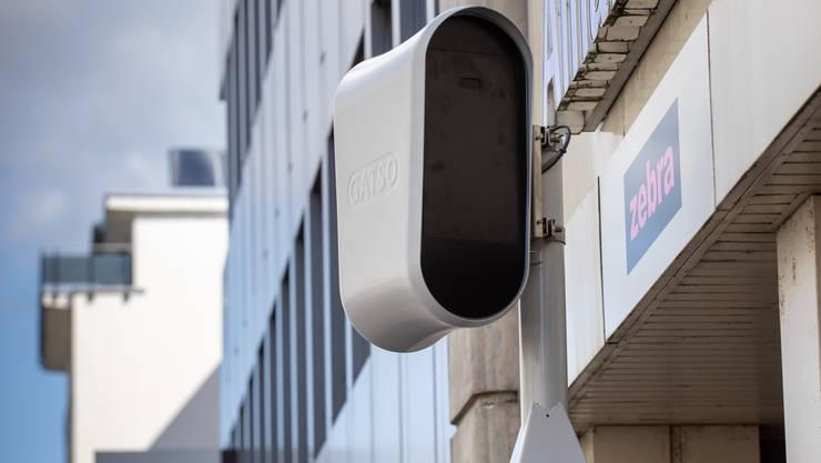 Am Dienstag wurde die neue Radaranlage an der City-Kreuzung installiert.