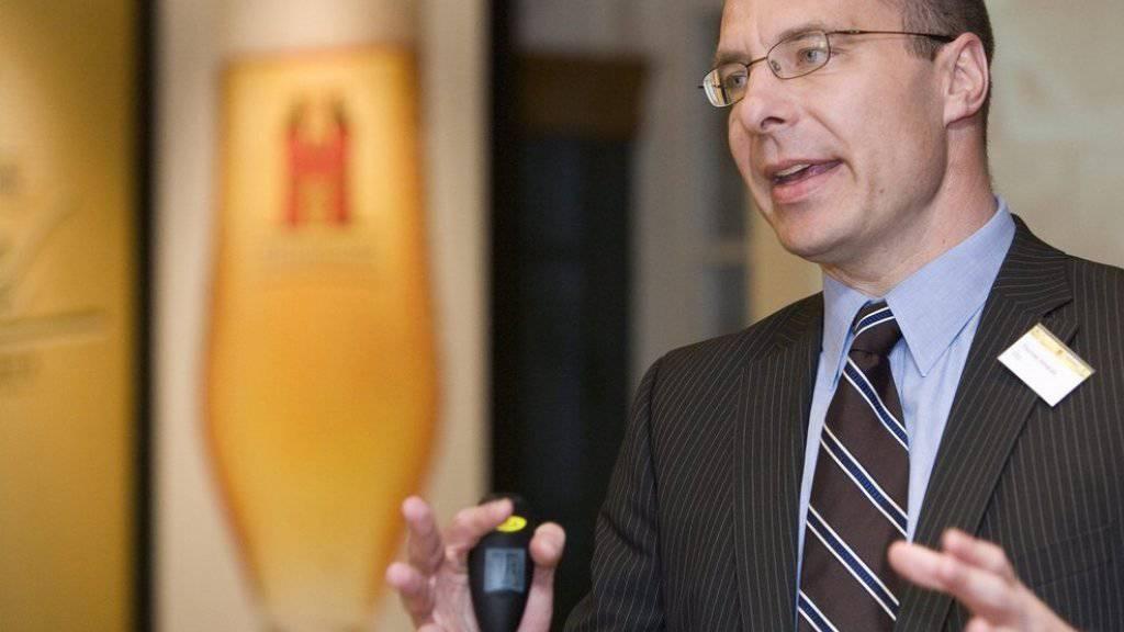 Starker Aufschlag, erfolgreicher Chef: Feldschlösschen-CEO Thomas Amstutz. (Archivbild)