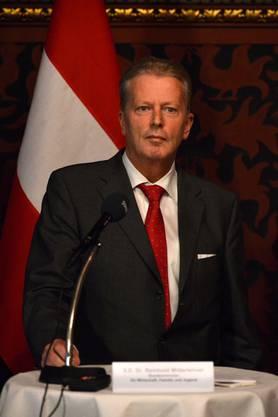 Österreichs Wirtschaftsminister Reinhold Mitterlehner.