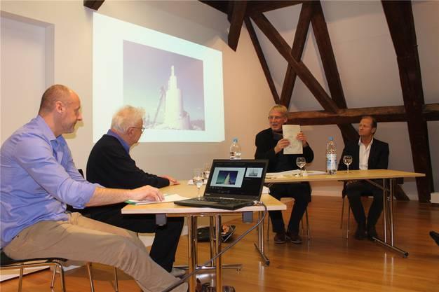 Diskussion im Kultur-Historischen Museum mit (von links): Reto Kämpfer, Rainer W. Walter, Ueli Studer und Marc Reist.
