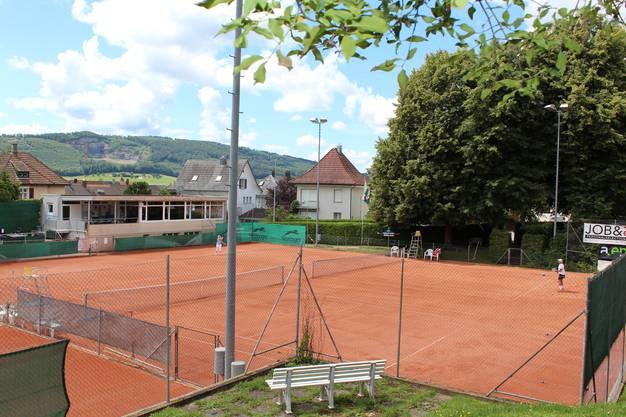 Die Tennisanlage im Oltner Schöngrund.