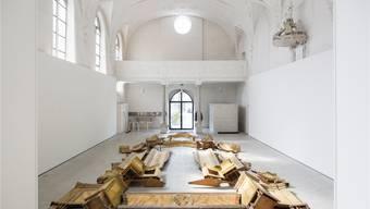 «Ex situ» liegt der St.-Josephs-Altar von 1740 in seiner ehemaligen Kirche.