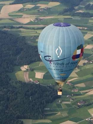 Ballonpilot Stefan Trindler bekommt in der Höhe einiges mit – das nächste Mal an der kommenden Schweizer Meisterschaft im Thurgau.
