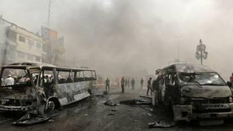 """Terror und Verachtung gegenüber """"Ungläubigen"""" als Programm: Sunnitische Fanatiker vom so genannten Islamischen Staat (IS) töten bei Hilla im schiitischen Süden des Iraks erneut Dutzende. (Archivbild)"""