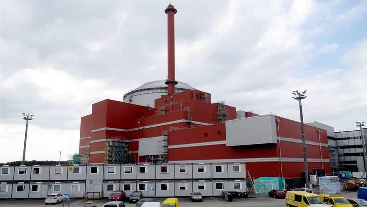 Der finnische Reaktorblock 3 in Olkiluoto ist eine ewige Baustelle. Mit zehn Jahren Verspätung soll er 2019 fertig werden.