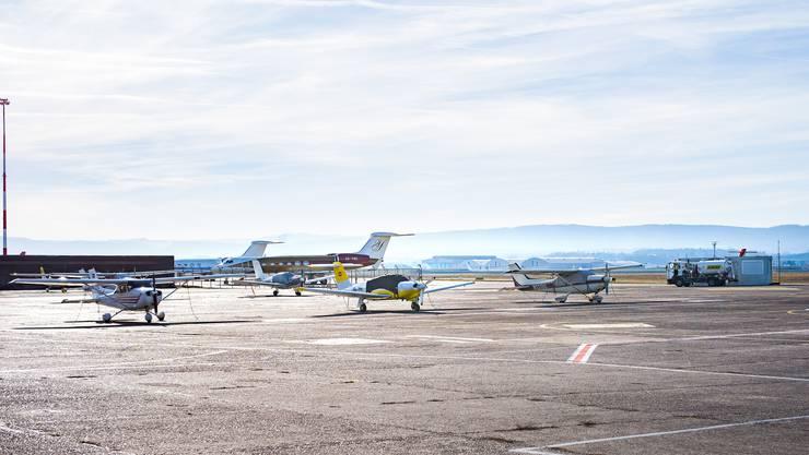 Flugschule Basel auf dem Euro Airport Mulhouse - von hier aus startete der verhängnisvolle Flug der Basler Piloten