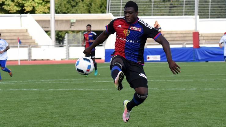 Neftali Manzambi sicherte der U21 des FC Basel mit seinem Tor den Sieg.