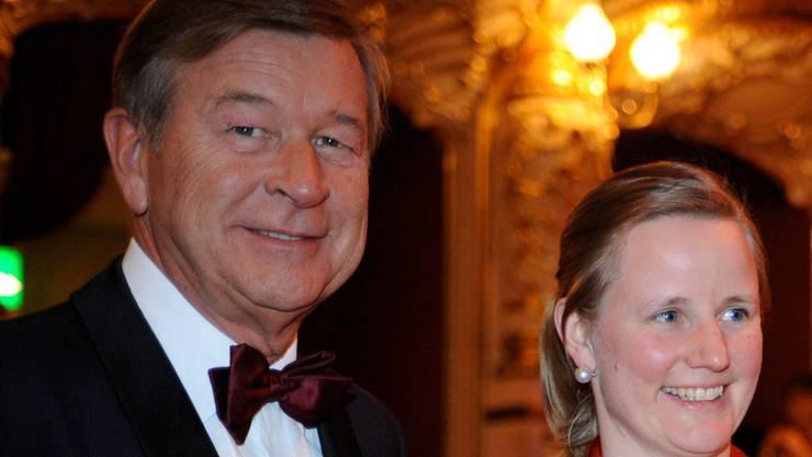 Der verstorbene Ex-UBS-Chef Marcel Ospel und seine Frau Adriana Ospel-Bodmer am Zürcher Opernball 2008.