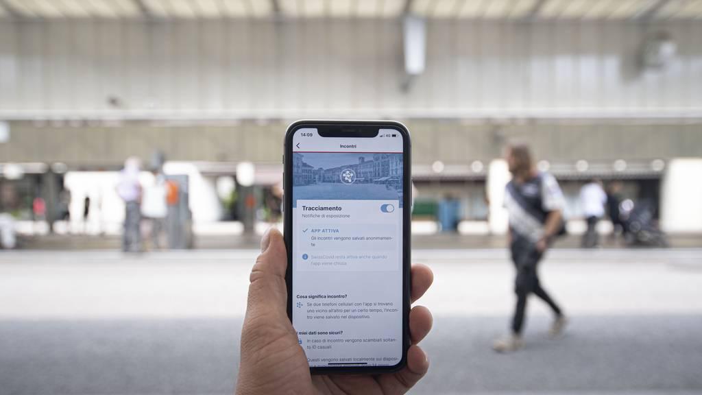 SwissCovid-App: Nutzerzahlen in den letzten Tagen rückläufig