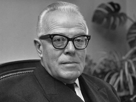 Ältester Demissionär in jüngerer Zeit: SP-Bundesrat Pierre Graber.