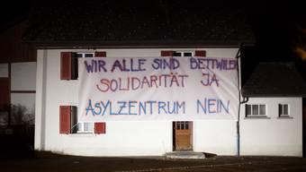 Protest gegen die geplante Asylunterkunft in Bettwil