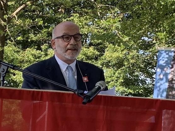 «Eine gute Streitkultur fördert die Demokratie», ist Unternehmer Alexander Krebs an der Bundesfeier in Lenzburg überzeugt.