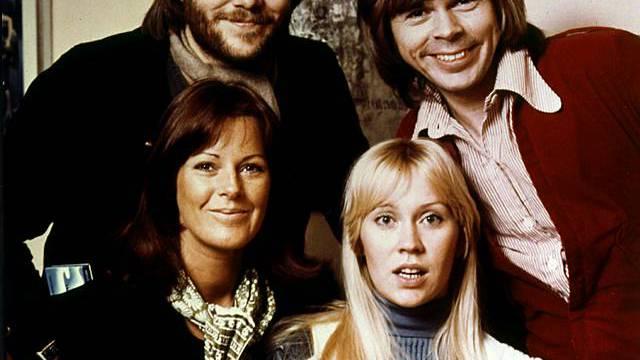 Das Popquartett ABBA im Jahr 1974 (Archiv)