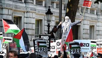 Die Demonstrierenden in London forderte Freiheit für Palästina