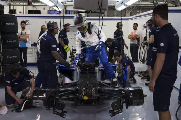 Die neuen Ferrari-Motoren sollen dem Sauber wieder etwas mehr Schub geben.