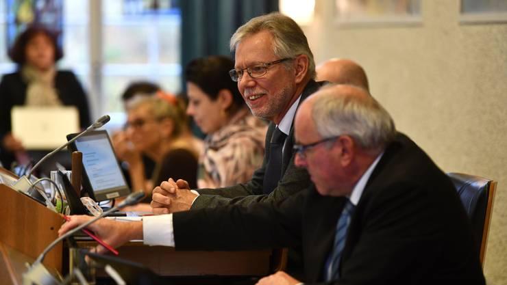 Landratspräsident Peter Riebli (SVP) nahm sich vor, bei der Sozialhilfe-Debatte zu schweigen. Da die Debatte ins Wasser fiel, hielt er Wort.