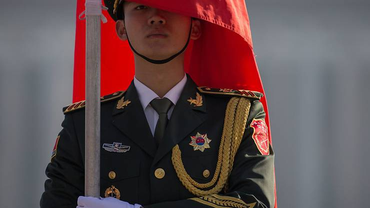 Ein Soldat in Chinas Hauptstadt Peking. (Archivbild)