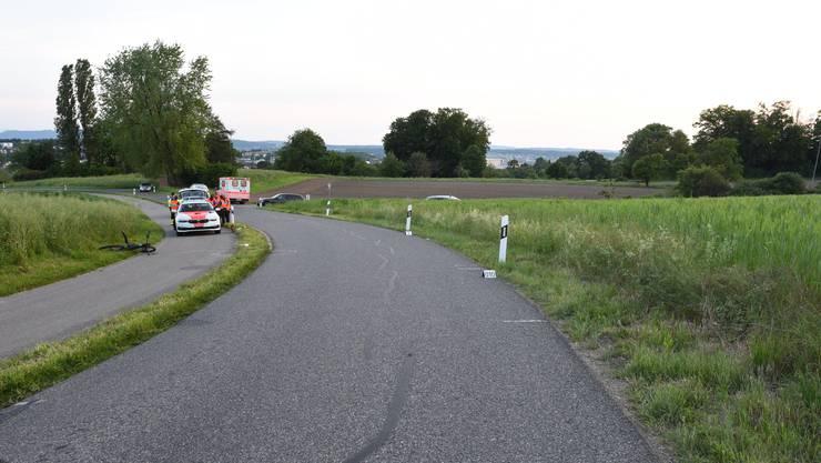 Ein 42-jähriger Mann stürzte hier auf der Gerlisbergstrasse mit seinem Velo und wurde schwer verletzt.