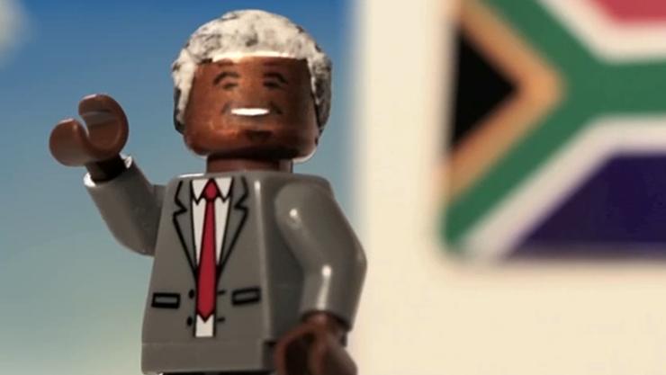 Nelson Mandela als Lego-Figur