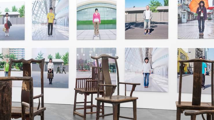 Die Arbeit von Ai Weiwei in der Ausstellung