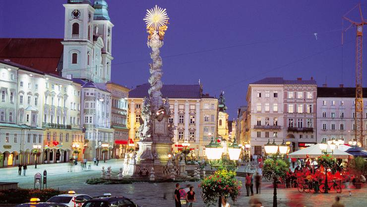 Auch barocken Baustil gibt es in Linz zu bestaunen. Etwa am Hauptplatz.