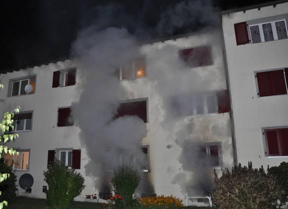 Die Feuerwehr brachte das Feuer rasch unter Kontrolle
