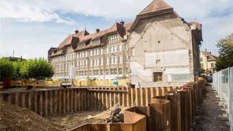 Aktuell ist auf der «Hemmli»-Baustelle der Aushub an der Reihe.