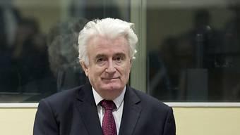 Radovan Karadzic am Mittwoch in Den Haag vor den Uno-Tribunal.