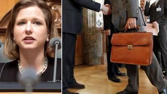Lobbyisten gehen im Bundeshaus ein und aus. Christa Markwalder liess sich von ihnen einspannen.