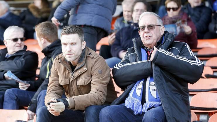 «Sollte Gashi tatsächlich zum FC Aarau zurückkehren, wäre das zweifellos ein spektakulärer Transfer.» - Alain Schultz (links).