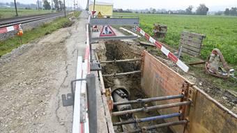 Arbeiten an der Hauptwasserleitung nach Grenchen