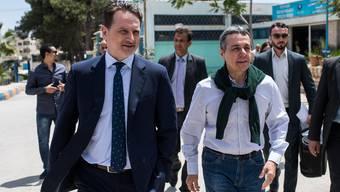 Aussenminister Ignazio Cassis und UNRWA-Generalsekretär Pierre Krähenbühl bei einem Besuch in der jordanischen Hauptstadt Amman im Mai 2018.