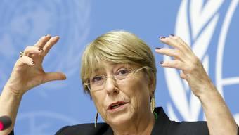 Zu wenig politischer Dialog und die Unterdrückung freier Meinungsäusserung - dies und weiteres beklagt die Uno-Hochkommissarin für Menschenrechte, Michelle Bachelet.