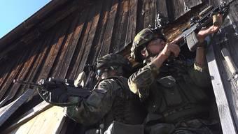 Szenen von der Übung der Grenadiere bei Waldstatt AR.