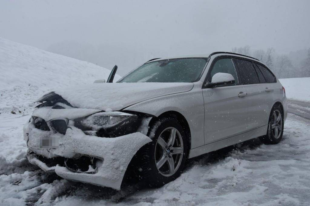 Unfall in Bernhardzell (© Kapo SG)