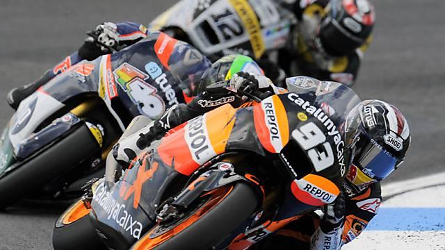 Die Titelanwärter: Marquez vor Espargaro und Lüthi.