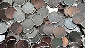 Kupfernickel-Rohlinge für die Schweizer Münzen.