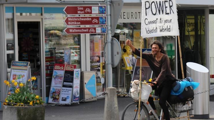 Stefan Heim trägt eine Botschaft von Malaga ins Freiamt: Vegan Power.