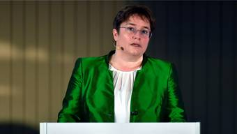 Ems-Chemie-Chefin Magdalena Martullo teilt aus.