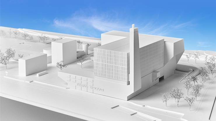 2025 soll die neue Anlage im Emmenspitz stehen: «Kebag Enova» im Modell.