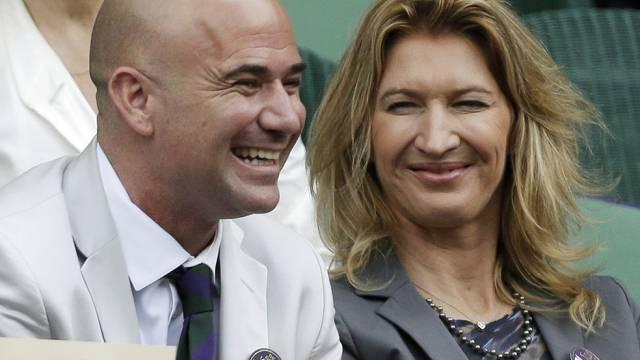 André Agassi und Steffi Graf haben gute Balance (Archiv)