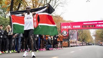 Ein neuer Weltrekord: Der Kenianer Eliud Kipchoge.