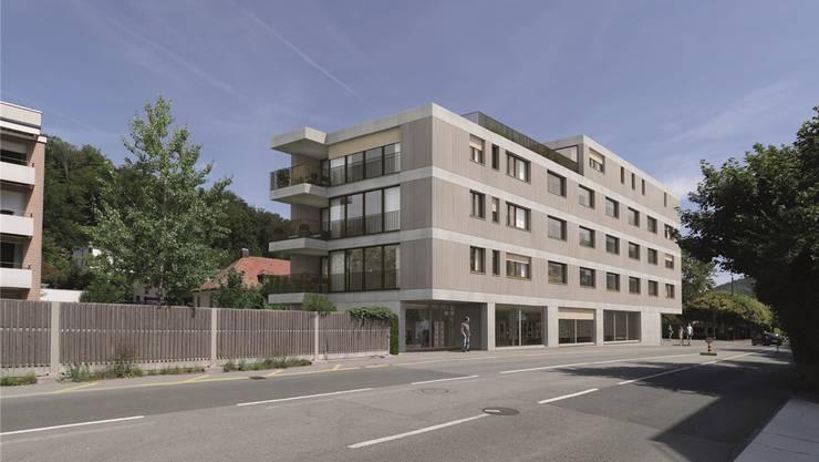 Der geplante Neubau wird die Stadtbachstrasse deutlich von der Mellingerstrasse trennen.