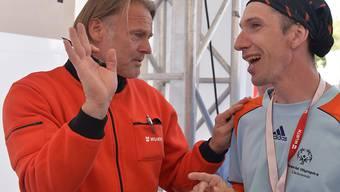 Jörg Stiel (links) ist neuer Goalie-Trainer von Neuchâtel Xamax