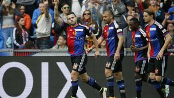 Renato Steffen jubelt über den Treffer gegen sein Ex-Team.