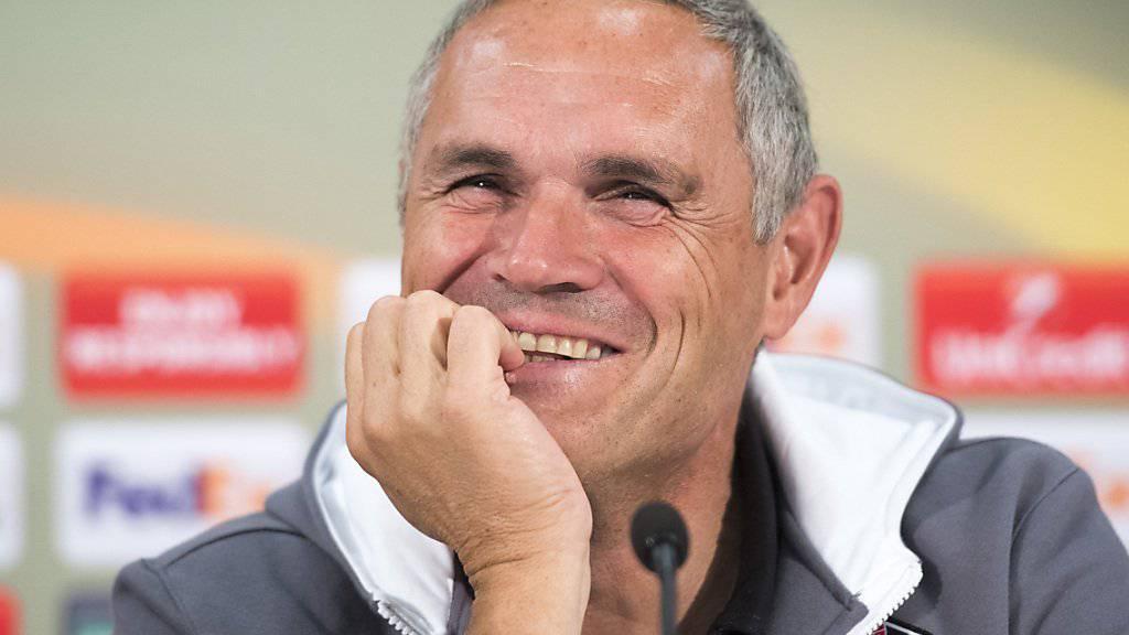 Coach Pierluigi Tami bleibt auch nach dem 1:4 guter Dinge