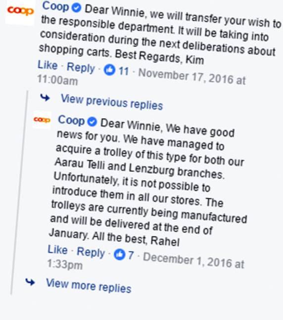 Die Antworten von Coop